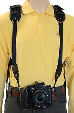 Trekking Safari Classic Camera Harness for DSLR & Binoculars. High Comfort Strap