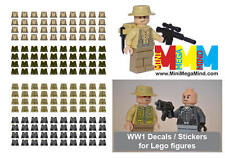 Decals -World War 1 (WW1, WWI , First World War) stickers for lego