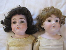 "Pair of Antique Kestner 154 13 Bisque Head Dolls with Kid Bodies ~ 25"" Tall"