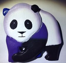 New Panda Bear Pin Brooch Black White Color Tone Animal Large Jewelry Teddy Cute
