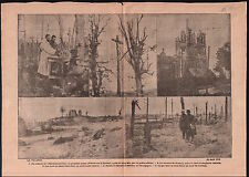 WWI Ruines Hartmannswiller Alsace Calvaire Carency Champagne  1915 ILLUSTRATION