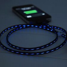 LED Light Micro USB Charger Data Sync Visible Flowing Cable For Samsung Iphone 6