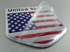 US USA America Flag Aluminum Sticker Auto Car 3D New Logo Emblem Badge Decal