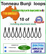Tonneau Bungee Shock Cord Loop 10 pk 90mm with free rivets and free postage
