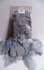 CRAFT FEATHERS GREY 5gm  Bag Approx 20-25 pcs