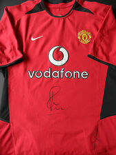 PAUL SCHOLES Signed Shirt MANCHESTER UNITED Legend COA