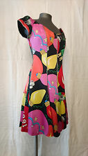 "Robe Fashion (évase) motifs multicolores -- ""NICOLE MILLER Paris"" -- T. 36"