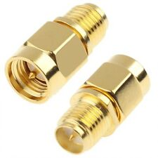 SMA Male to RP-SMA Connector Female Wifi Antenna Extender Adapter Gold Plated