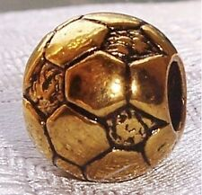 Nickel Free Soccer Ball Gold Tone Team Sports Bead for European Charm Bracelets