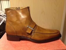 Tan leather boots for men. Also available in black- made in Italy