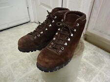 VINTAGE 70'S  ALL SUEDE LEATHER FABIANO HIKING BOOTS ITALY MADE MEN 9 GREAT COND