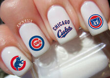 Chicago Cubs Nail Art Stickers Transfers Decals Set of 56