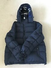 Burberry Brit Basford Puffer Jacket Coat Removable Sleeves & Hood Blue Size XXL