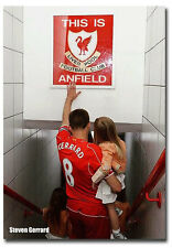 "Steven Gerrard This is Anfield Poster Fridge Magnet Size 2.5"" x 3.5"""