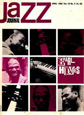 JAZZ JOURNAL MAGAZINE 1965 APR EARL HINES, GEORGE LEWIS, BARNEY BIGARD, LEO PARK