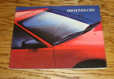 Original 1988 Honda CRX Sales Brochure 88