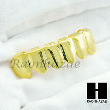 NEW CUSTOM 14K GOLD PLATED TEETH GRILLZ CAP BOTTOM FANGS HIP HOP TEETH GRILLZ