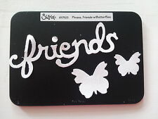 Sizzix Sizzlits FRIENDS BUTTERFLIES Medium Die Cutter Fit Cuttlebug & Big Shot