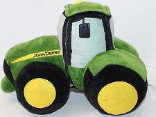 "John Deere Tractor Throw Pillow Decorative Bed Bedroom Kids Green Farm 14"" Long"