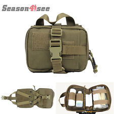 Tactical Molle Medical First Aid Pouch Home Rescue Bag Case Coyote Brown 1000D