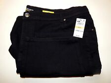 STYLE & CO WOMEN'S BLACK JEANS 24WP (WOMEN'S PETITE) NATURAL FIT ~ NWT