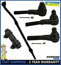 5 Pc Suspension Kit Front Inner Outer Tie Rod Drag Link Jeep Tj Wrangler 4WD 4X4