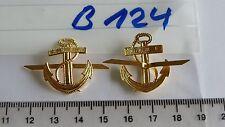Pezzo di spalla EDIZIONE ancoraggio metallo GOLDEN 1 PAIA (b124)