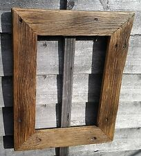 Rustic Reclaimed Dark Oak Wood Driftwood Picture Canvas Photo Frame Shabby Chic