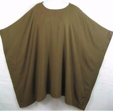 "TIENDA HO~GOLDEN BROWN~Caftan Top~FLAT Rayon~82"" Bust~OS"
