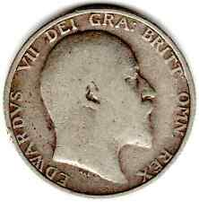 1906 12d 1s Silver ONE SHILLING twelve pence King Edward VII