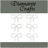 6 x 29mm Clear Diamante Bows Rhinestone Vajazzle Body Gems