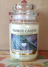 YANKEE CANDLE SILVER WHITE WINTERS MY FAVORITE THINGS 22 OZ JAR EXTREMELY RARE