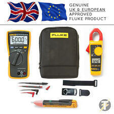 Fluke 113 True RMS Multimeter + 324 Clamp Meter + TPAK3 + 1AC + C115 Case