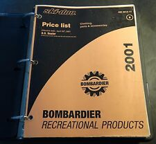 2001 SKI-DOO CLOTHING, PARTS & ACCESSORIES DEALER PRICE LIST MANUAL  (953)