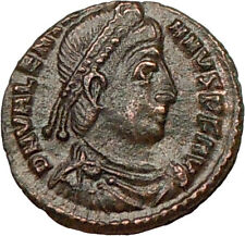 VALENTINIAN I 364AD Authentic Ancient Roman Coin ANGEL VICTORY NIKE i17347