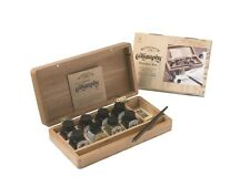 Winsor & Newton Calligraphy, Drawing Ink Wooden Box Set 14ml inks & dipping pen