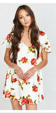 Show Me Your MuMu Ladies Rosa Bonita Short Sleeve Kylie Mini Flower Dress NEW-L