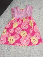 """NWT - Gymboree """"Hop 'n' Roll"""" short sleeved pink & yellow flowered dress - 4T"""