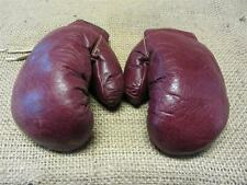 Vintage Leather Boxing Gloves   Antique Old Sports Ring Fight Childs 8093