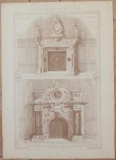 RICORDI DI ARCHITETTURA CAMINETTI IN MARMO FONTANA SCULTURA AMERICA URUGUAY 1800