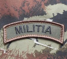 MILITIA ARMY TAB ROCKER TACTICAL USA FOREST VELCRO® BRAND FASTENER PATCH