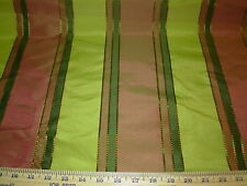 ~BTY~SILK~ELEGANT STRIPES EMBROIDERED UPHOLSTERY FABRIC~FABRIC FOR LESS~