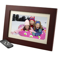 "Insignia 10"" Digital Photo Frame - Espresso Wood Finish NS-DPF10WW-16 In Box"