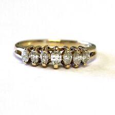 10k yellow gold .48ct SI1 H women's diamond wedding anniversary band 2.5g estate