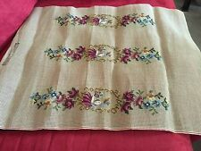 Large Needlepoint Canvas Preworked Design Includes Yarn For Background. I