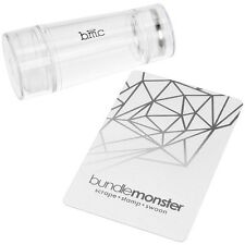 BMC Dual Ended Clear Silicone Nail Art Stamper - Glass Stamper Collection
