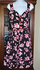 New VooDoo Vixen Women's Blush Rose Flair Sunress Rockabilly Pin-Up Size Medium