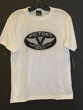"Victory Polaris Short Sleeve ""Art Of Motorcycles"" Tee In White (Size S) NWT"