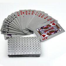 Luxus Silber Wasserdicht 54 Kartenspielen für Poker Brückenspiel Romme