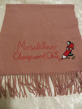 NWT MOSCHINO 100% WOOL SCARF 38cm x 162cm MADE IN ITALY (Value$175)